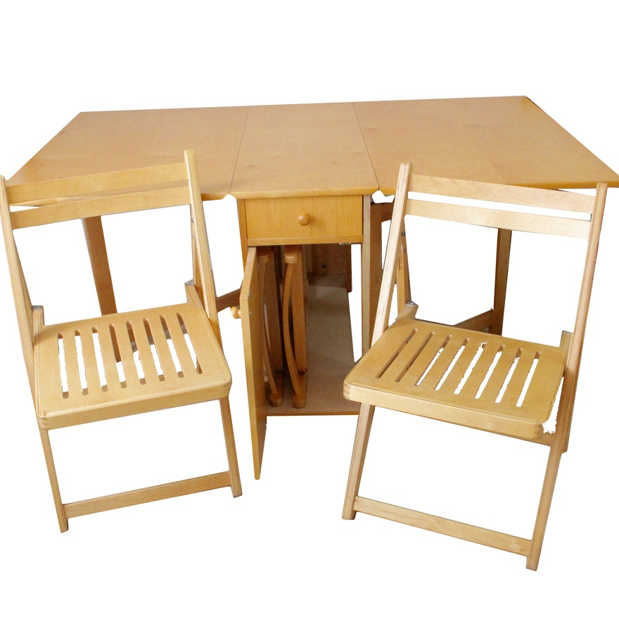 Vintage Hideaway Dining Table And Chairs Set