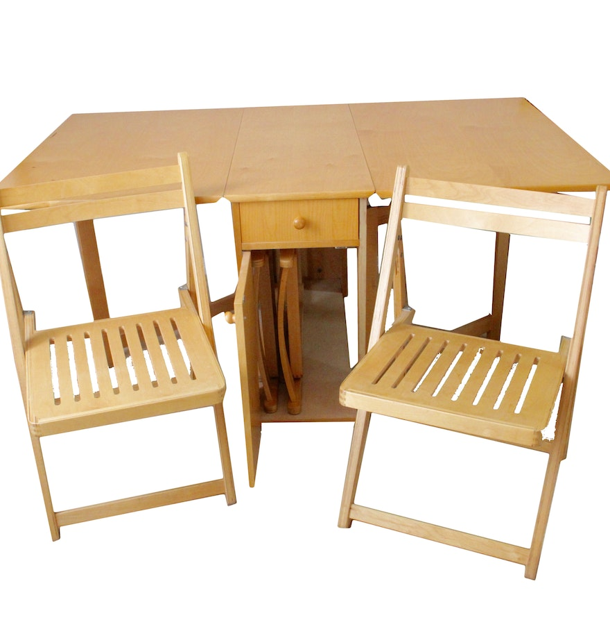 Vintage Hideaway Dining Table and Chairs Set EBTH