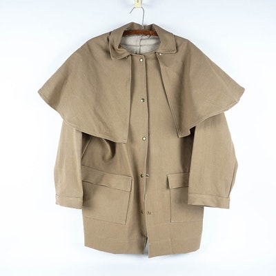 Western Style Short Canvas Duster for Reenactment