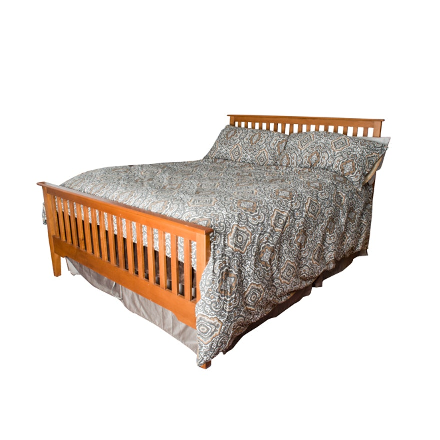 nadeau mission style queen bed frame - Mission Style Bed Frame