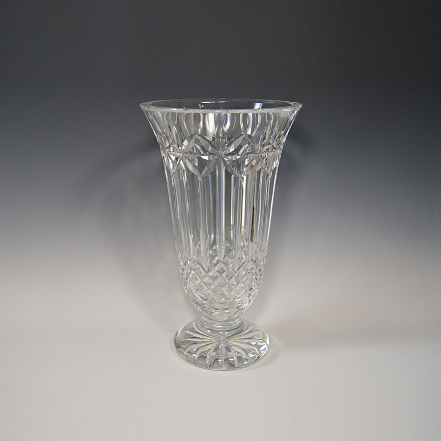 Waterford Crystal Lismore Balmoral Vase Ebth