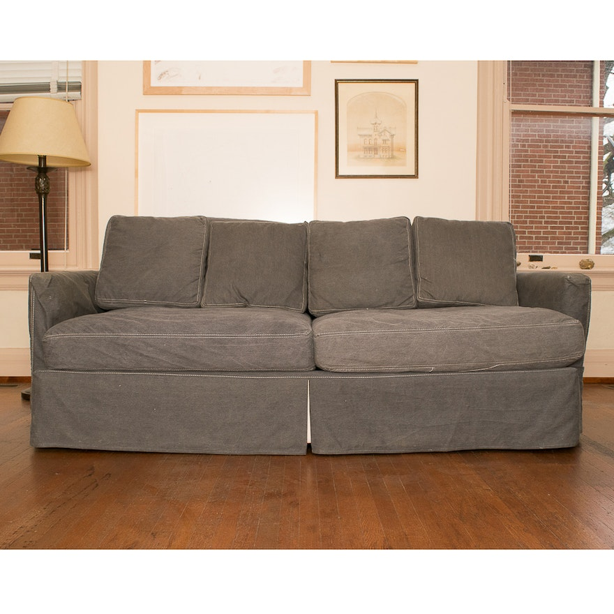 Crate And Barrel Lounge Ii 83 Inch Sofa Ebth