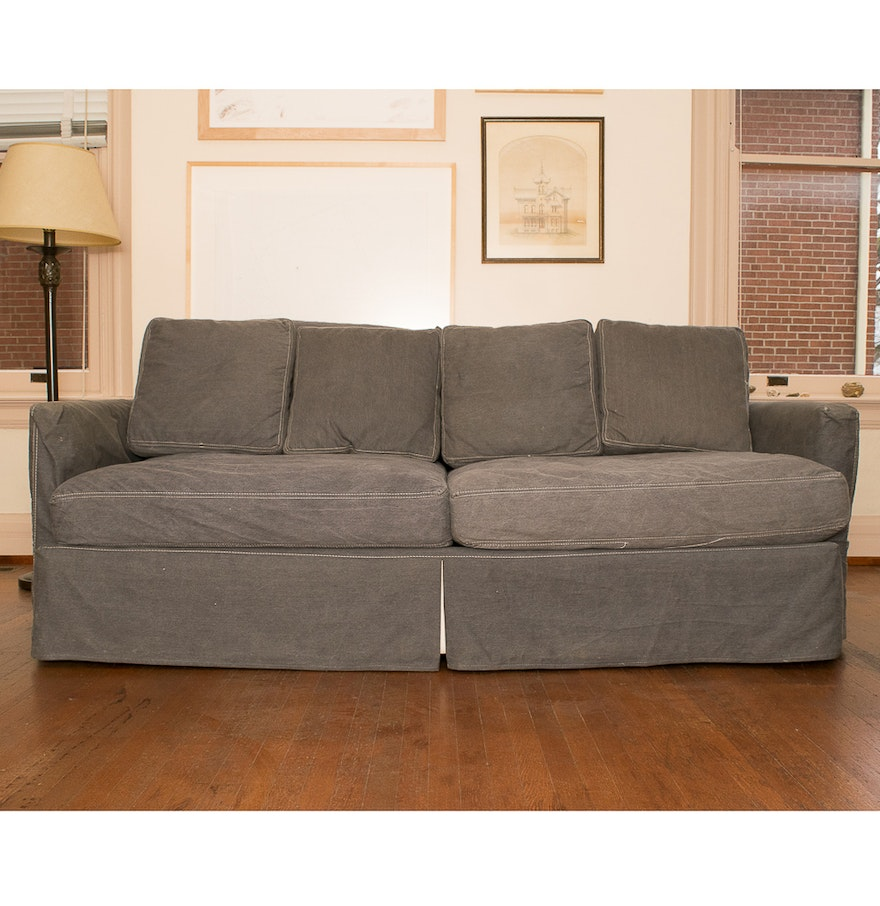 Crate And Barrel Quot Lounge Ii Quot 83 Inch Sofa Ebth