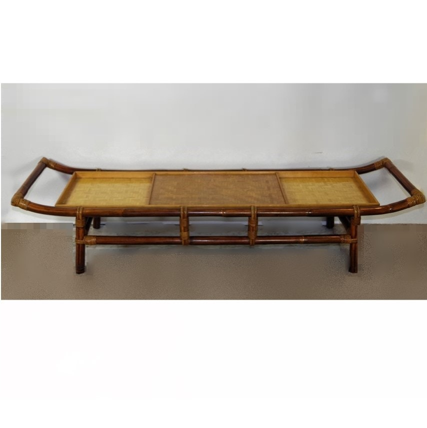 John B. Wisner For Ficks Reed Pagoda Coffee Table ...