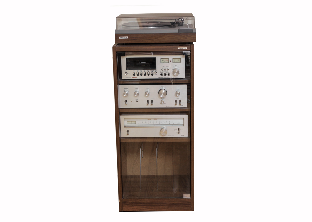 Pioneer Stereo Components with Multi Media Cabinet : EBTH