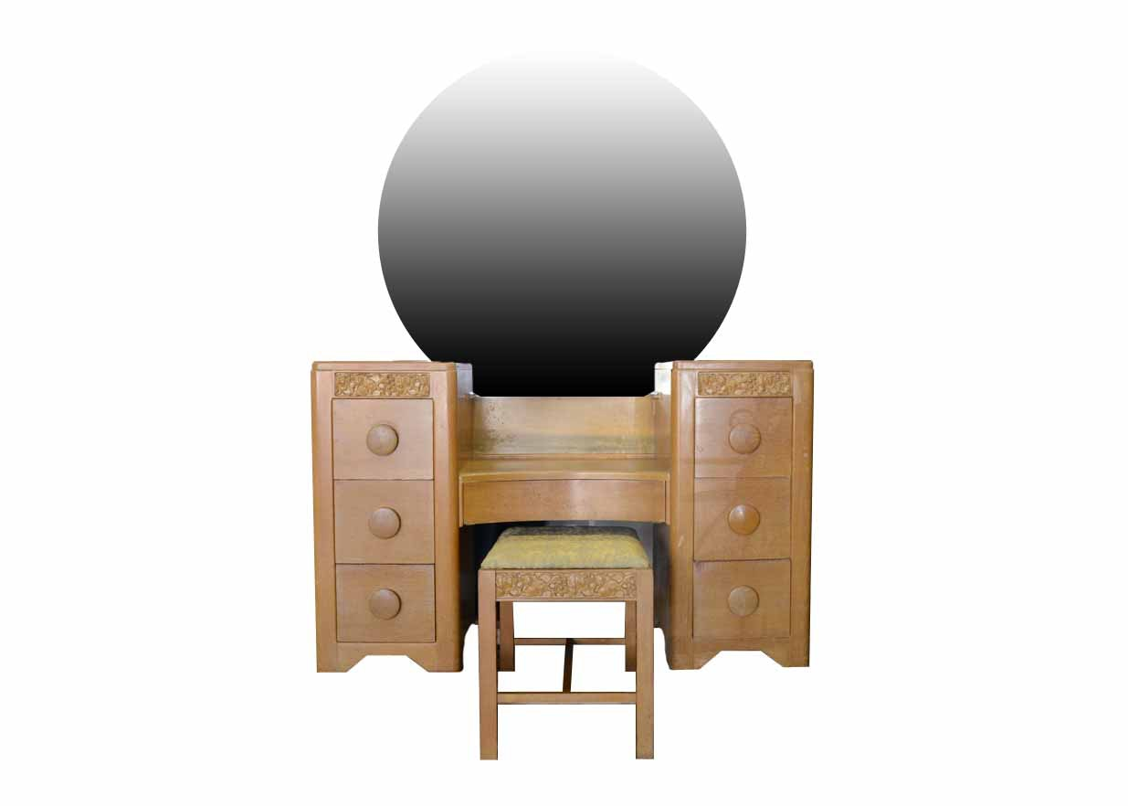 Vintage Thomasville Art Deco Dressing Table With Mirror ...