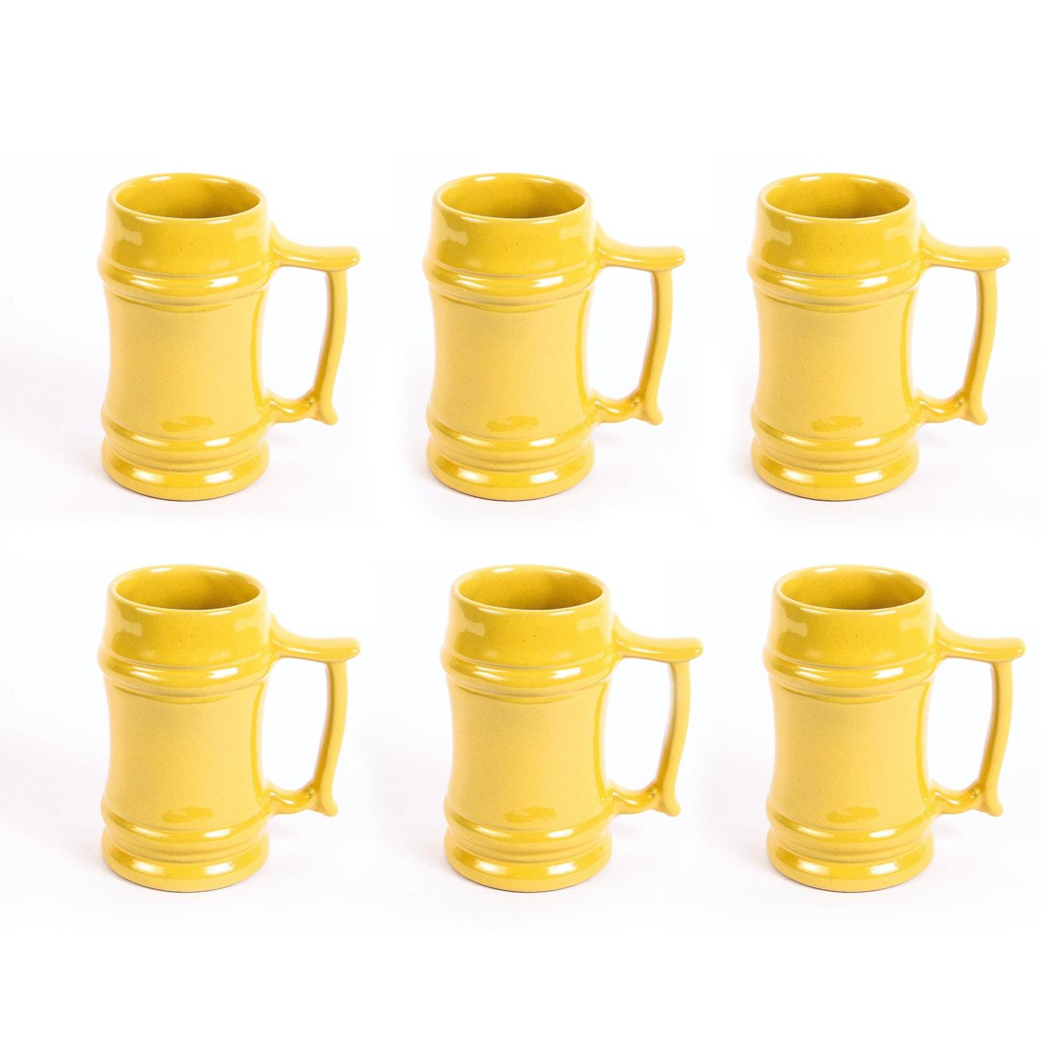 Set of Six Vintage Frankoma Pottery M2 Autumn Yellow Mugs ...  sc 1 st  EBTH.com & Set of Six Vintage Frankoma Pottery M2 Autumn Yellow Mugs : EBTH