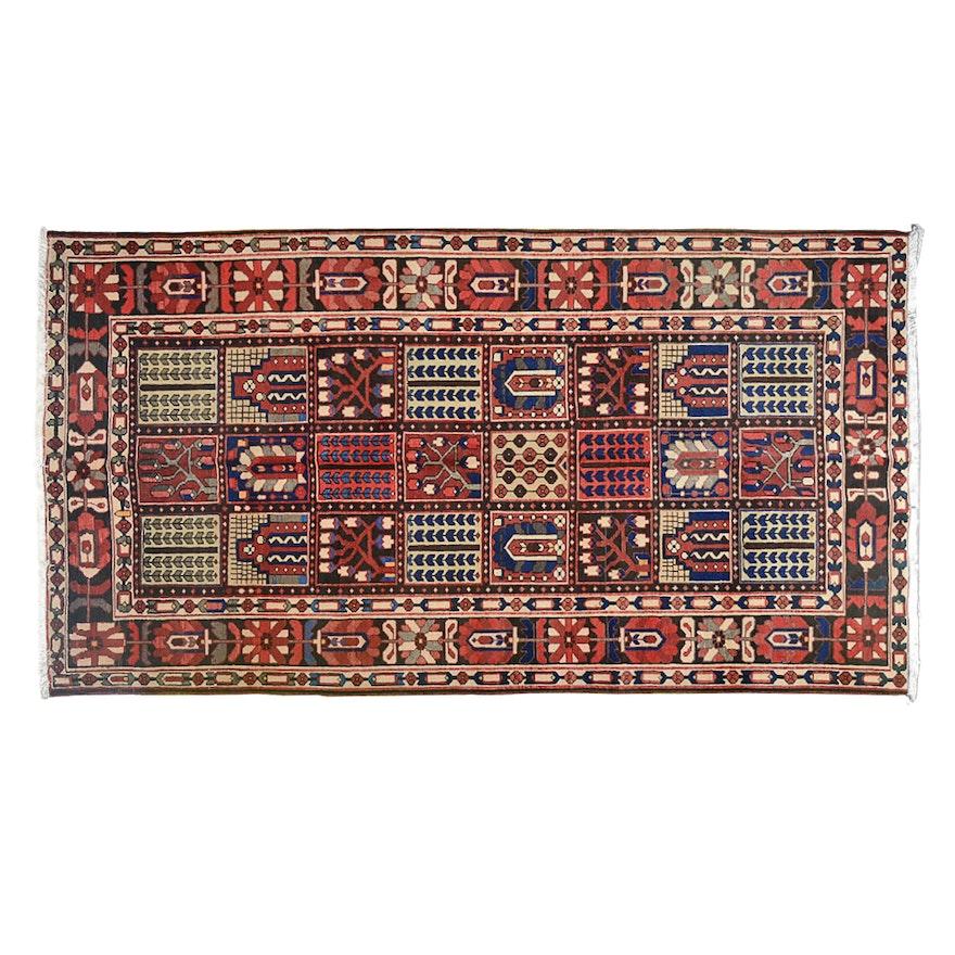 Persian Hand Woven Bakhtiari Style Wool Area Rug Ebth: Antique Handmade Bakhtiari Iranian Rug