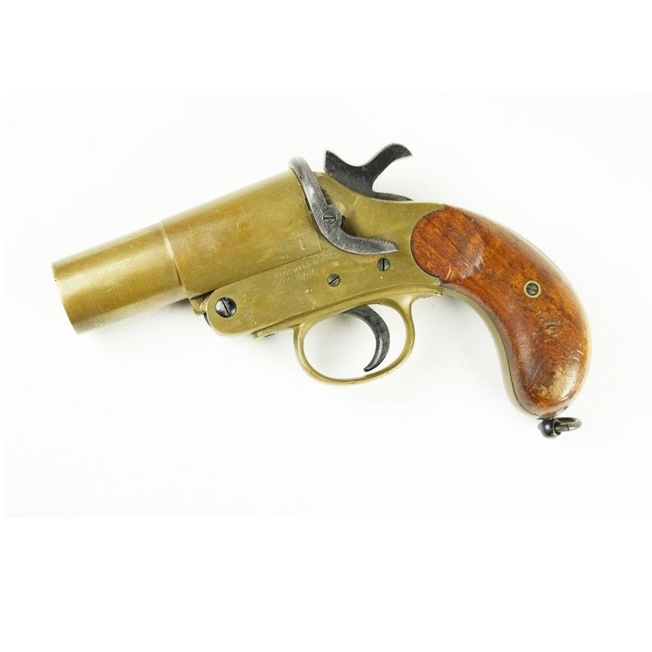 Wwi British Cogswell Harrison Mk Iii Trench Flare Pistol