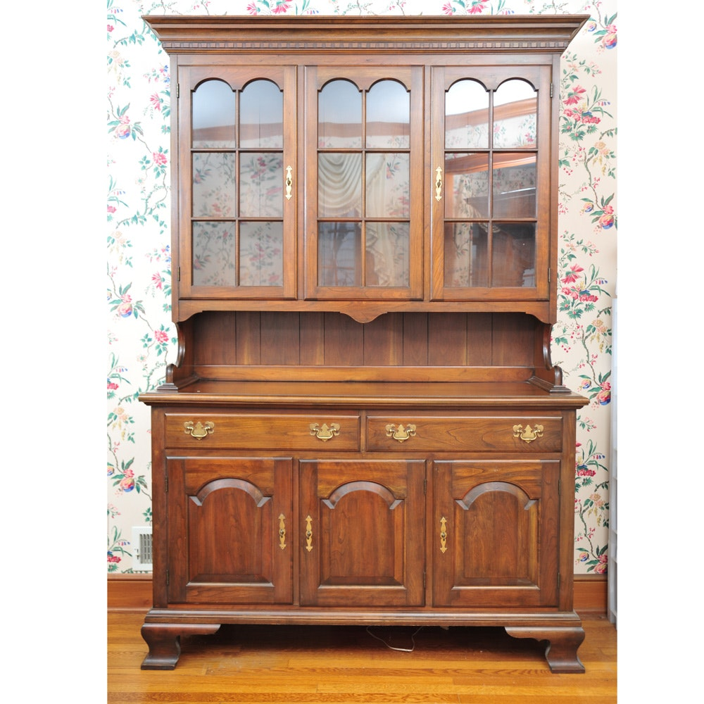 Wonderful Pennsylvania House Cherry Buffet With Glass Front China Cabinet ...
