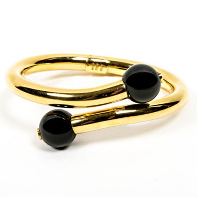 18K Gold and Onyx Bracelet