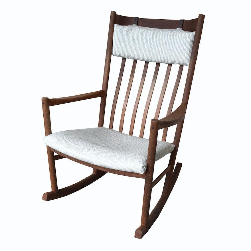 finest selection 40ca1 44fdf Hans J. Wegner for Tarm Stole Danish Modern Rocking Chair