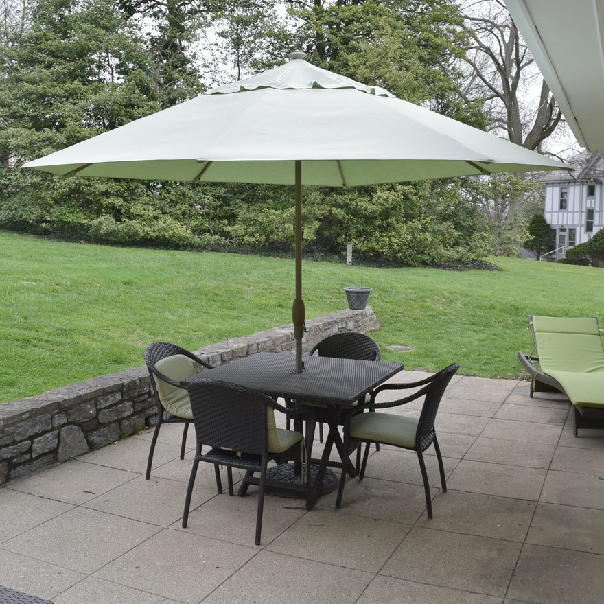 Groovy Frontgate Patio Table Chairs And Umbrella Set Pdpeps Interior Chair Design Pdpepsorg