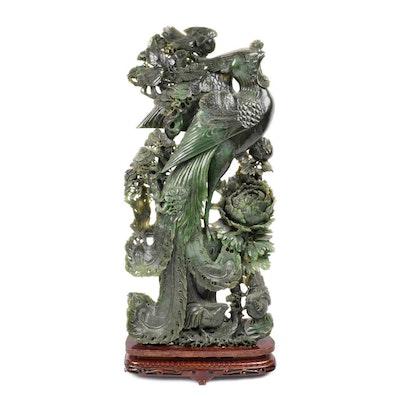 Jadeite Phoenix Sculpture