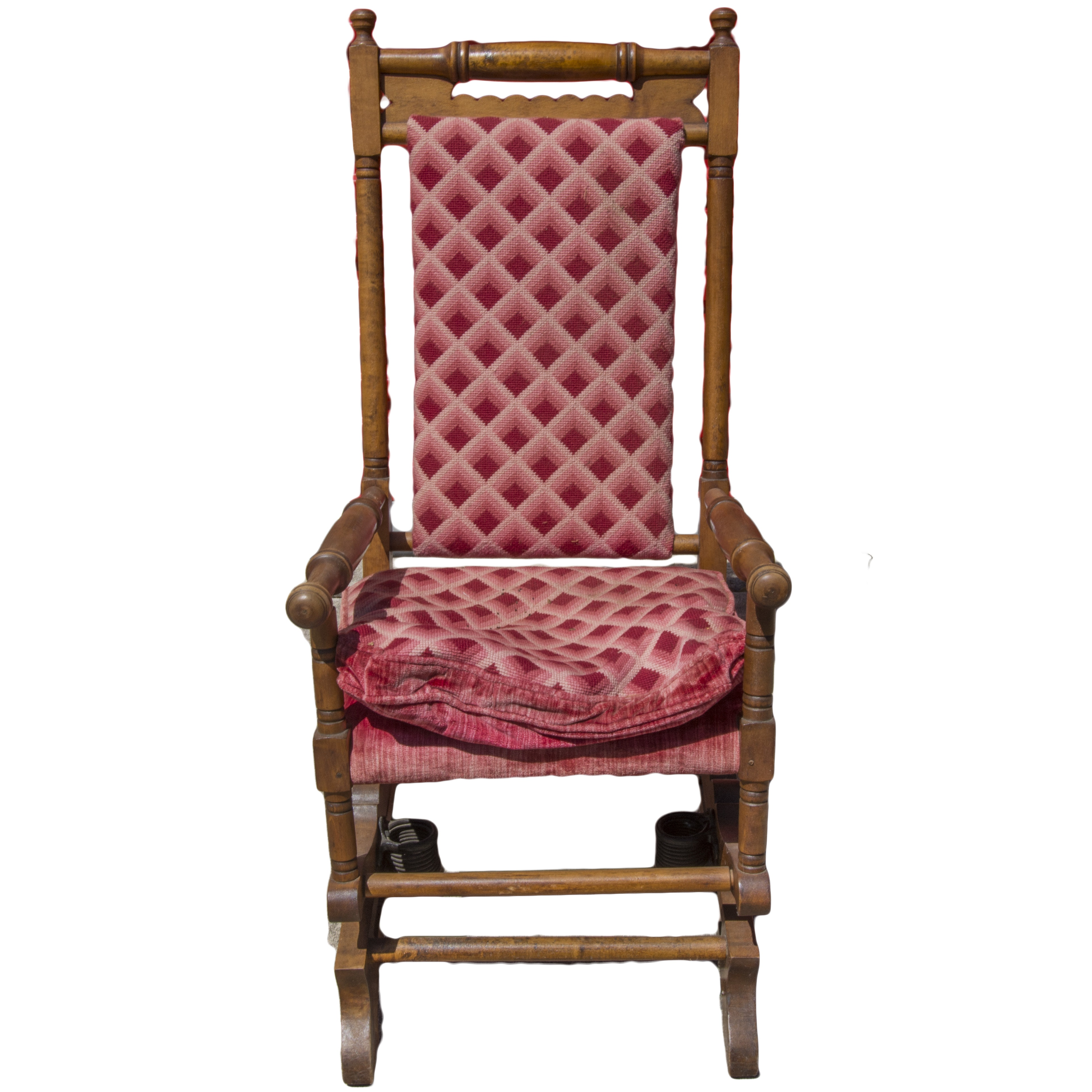 William and Mary Style Spring Rocking Chair EBTH