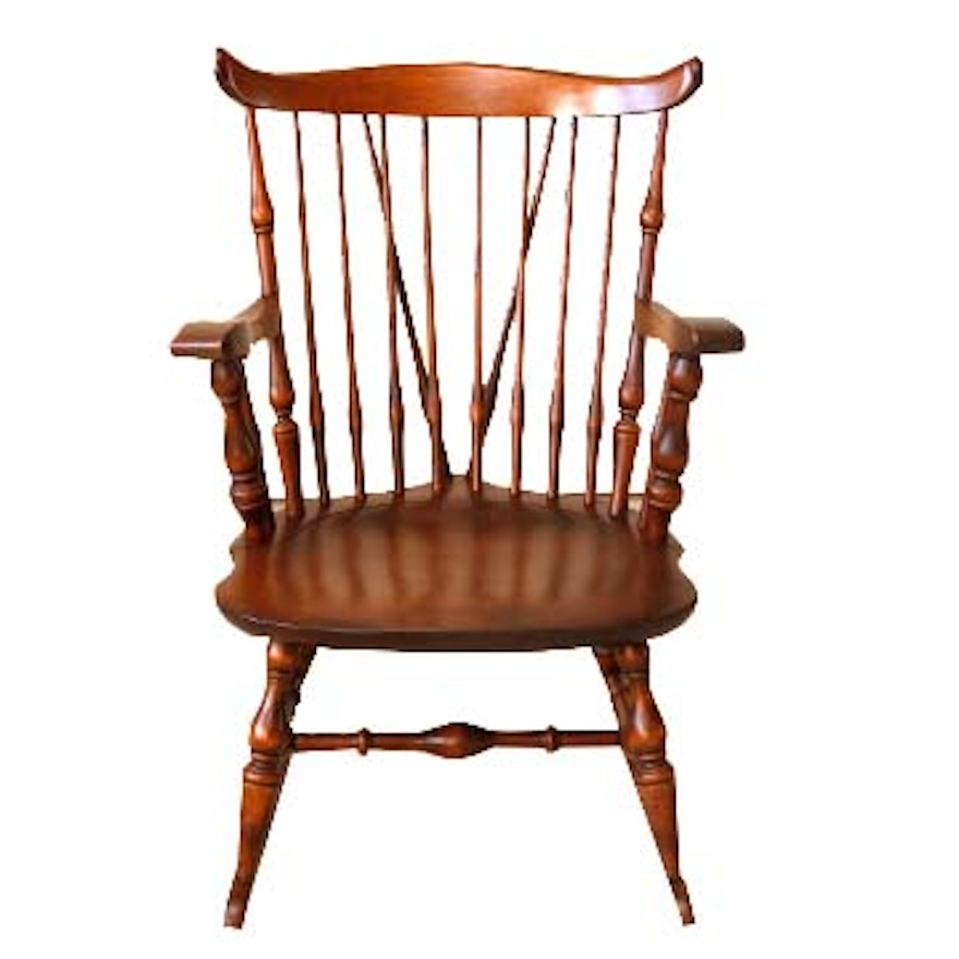 Nichols Amp Stone Co Windsor Style Rocking Chair Ebth