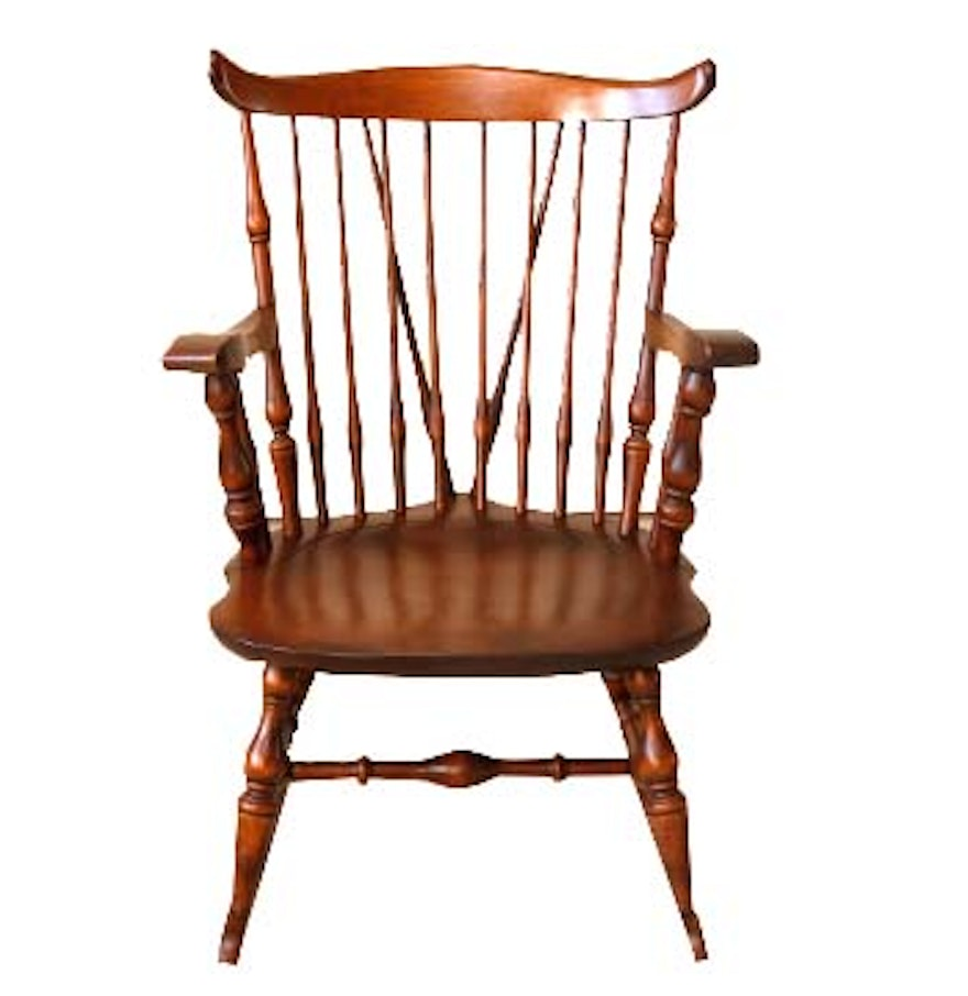 Nichols Stone Co Windsor Style Rocking Chair Ebth