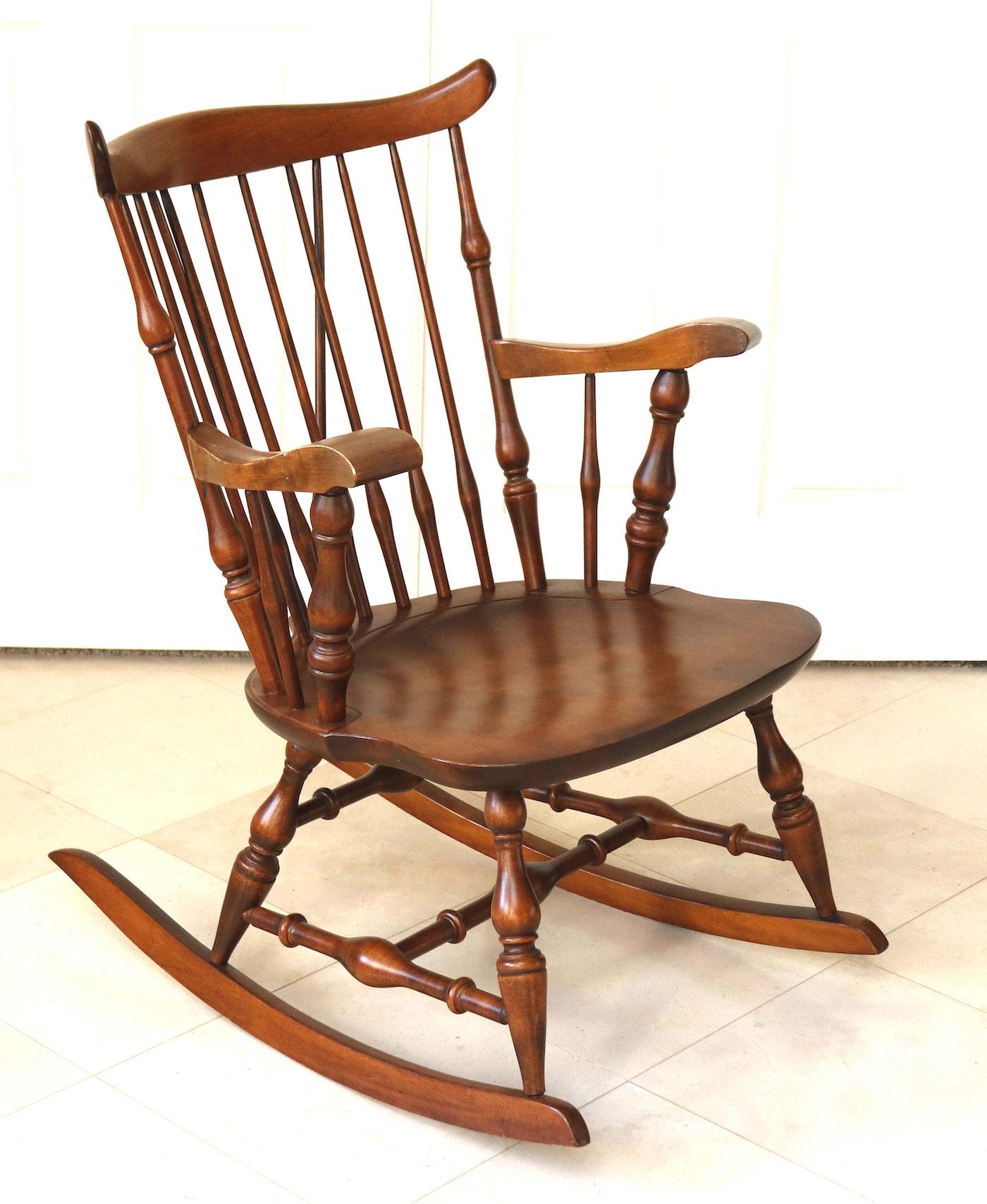 Nichols & Stone Co. Windsor Style Rocking Chair : EBTH
