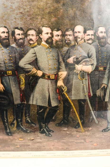 Quot Lee And His Generals Quot Chromolithograph By George Bagby