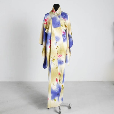 Vintage Silk Hand Stitched Kimono