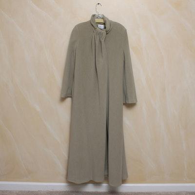 Long Armani Collezioni Wool Winter Coat in Taupe