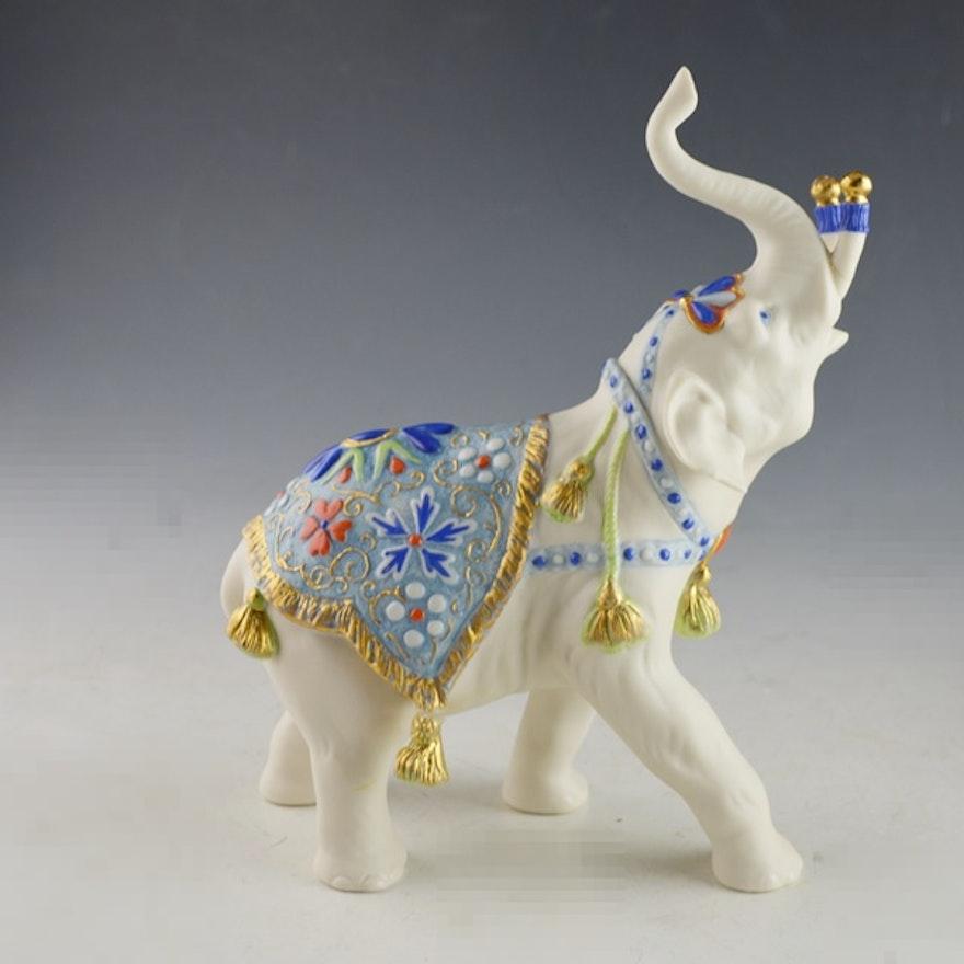 Vintage cybis porcelain circus elephant figurine
