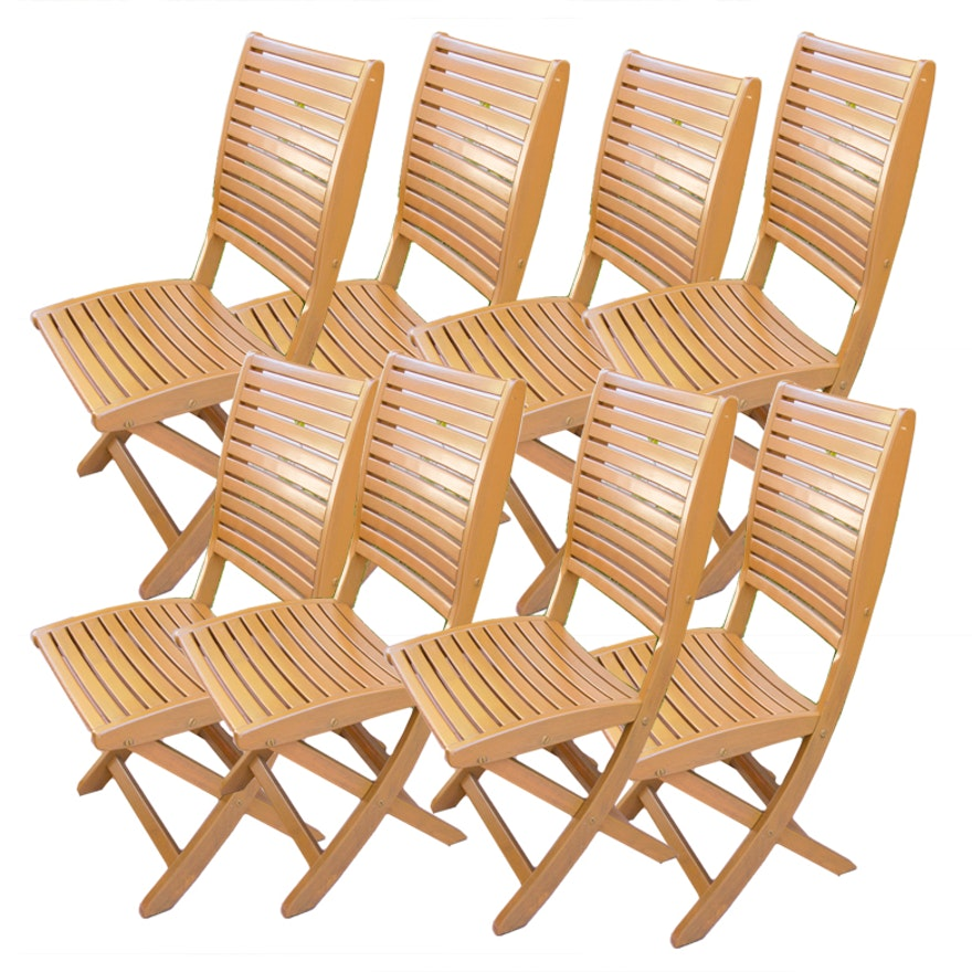 Set Of Les Jardins Teak Patio Chairs