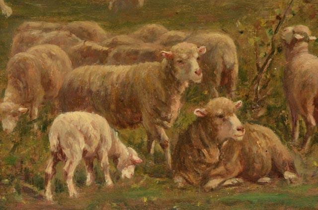 Sky Auto Sales >> Albert Charpin Original Oil Painting of Pastoral Landscape ...