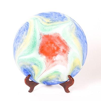 Vintage Murano Glass Shallow Bowl