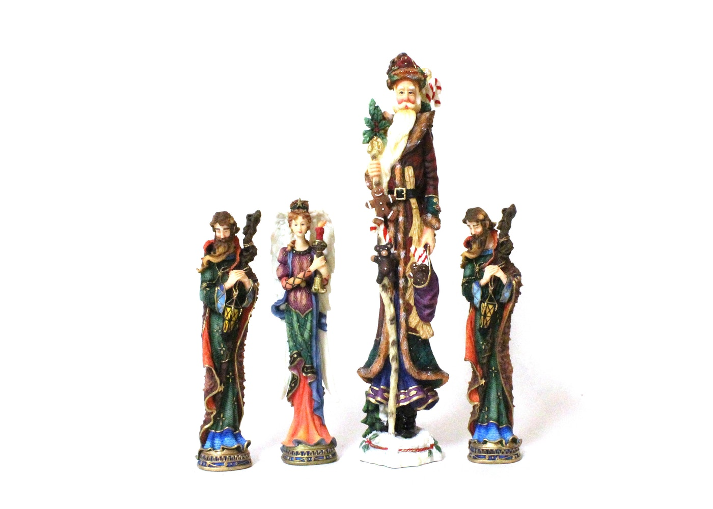 Set of lenox ceramic christmas figurines ebth