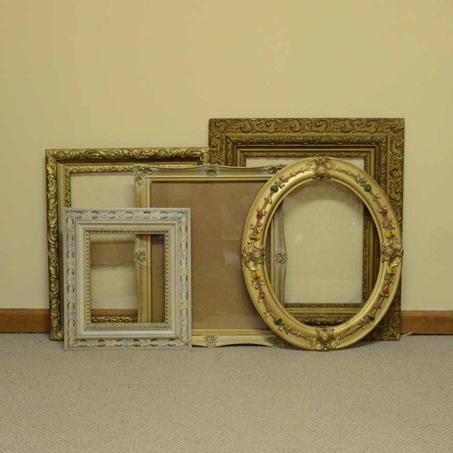 3220f097af62 Assortment of Vintage Wood and Gesso Frames   EBTH