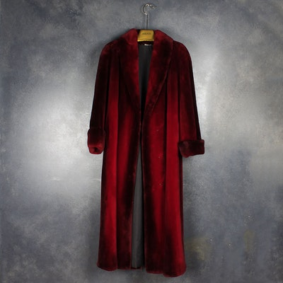 Wolfie Red Faux Fur Coat