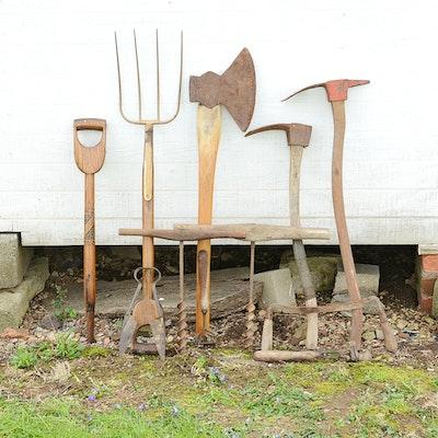 Vintage Log Building Tools