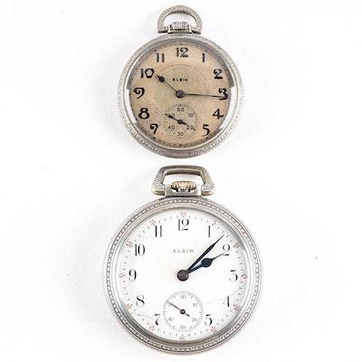 Elgin Pocket Watch Pair