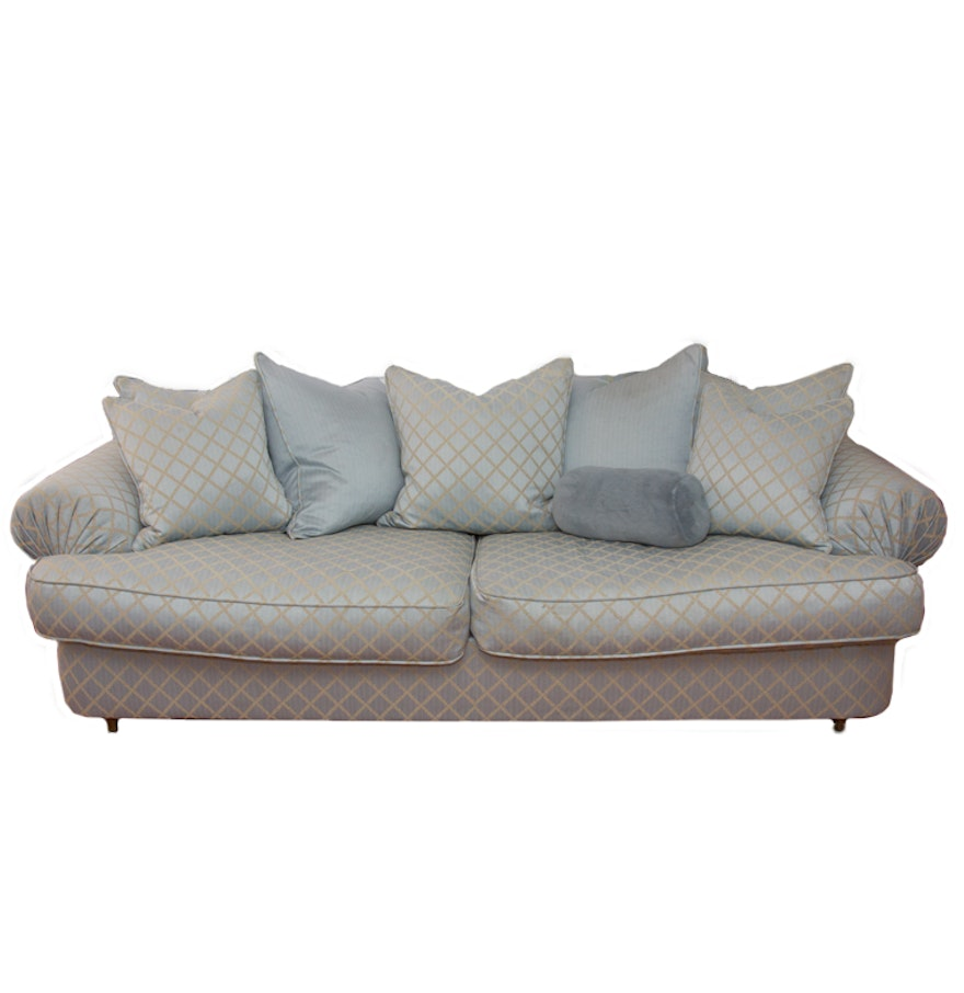 upholstered low back sofa