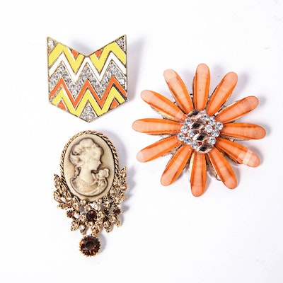 Trio of Brooches