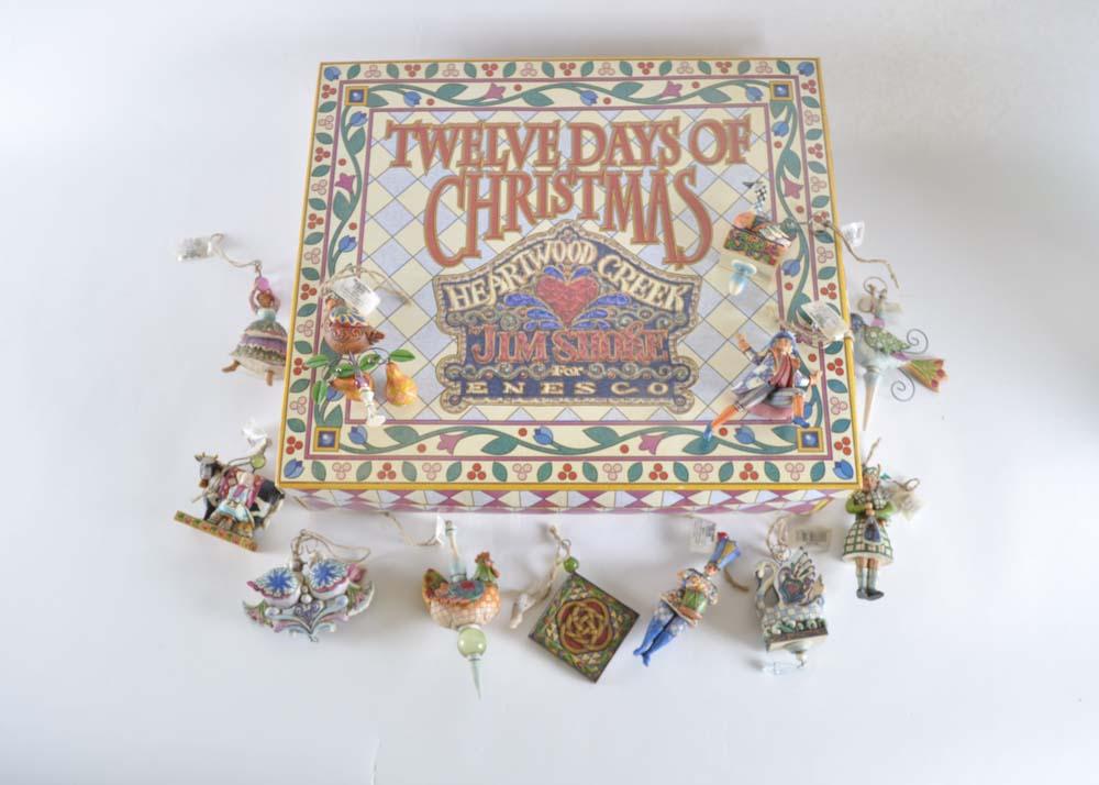 Jim Shore 12 Days of Christmas Ornament Set : EBTH
