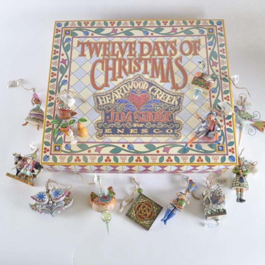 jim shore 12 days of christmas ornament set - 12 Days Of Christmas Ornament Set