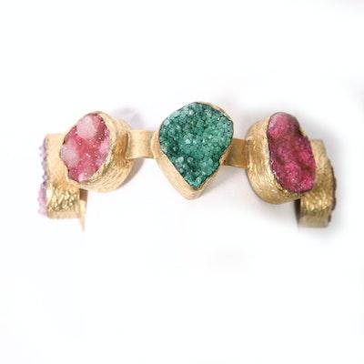 Agate Druzy Bracelet from Turkey