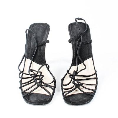 Pair of Giorgio Armani Black Strappy Sandals