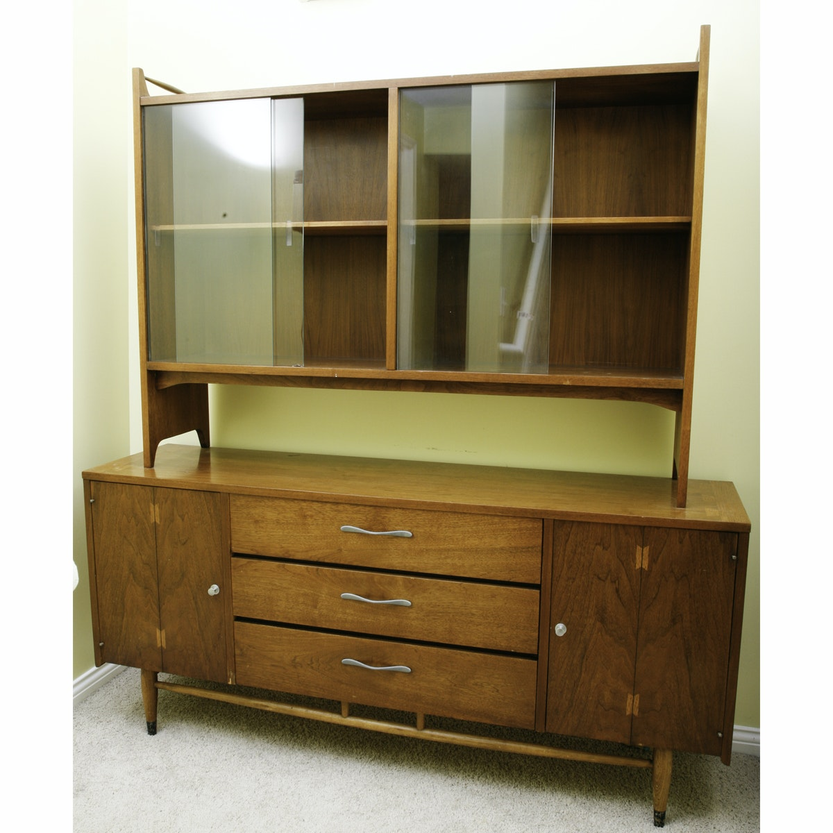 Mid Century Modern Lane Acclaim Two Piece China Cabinet ...