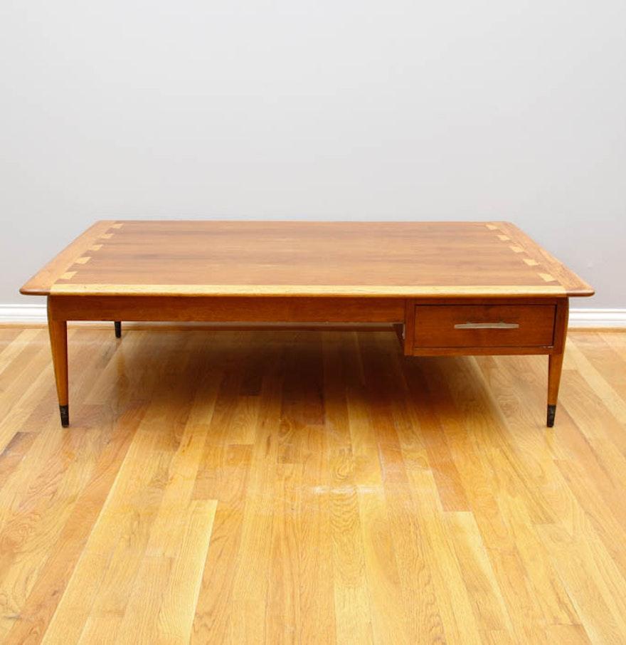Mid Century Modern Lane Acclaim Oversized Coffee Table Ebth