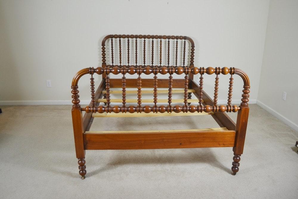 Vintage Full Size Walnut Jenny Lind Style Spool Bed Ebth
