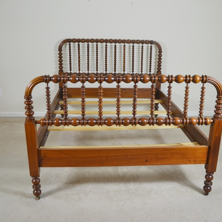 Vintage Full Size Walnut Jenny Lind Style Spool Bed Ebth
