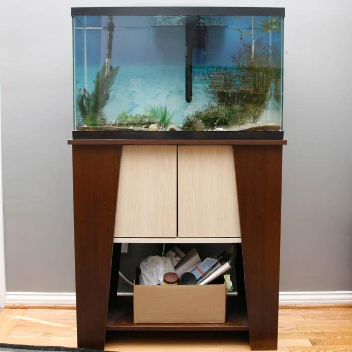 Mid Century Modern Inspired Cabinet With Aquarium ...