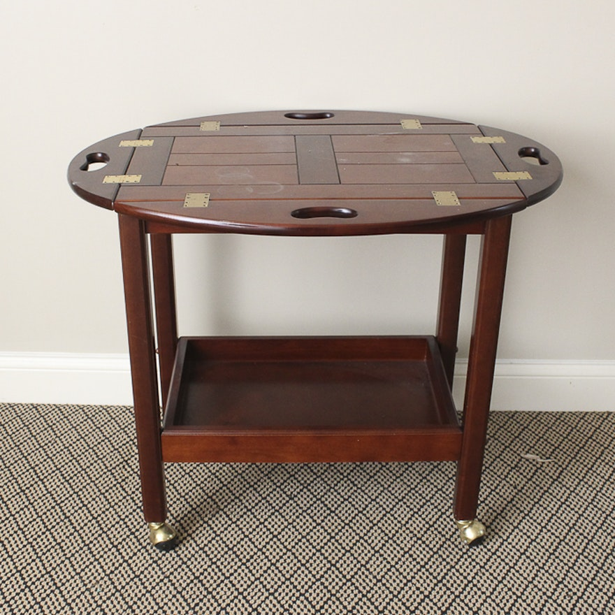 Ay Company Side Table With Removable Tray Top