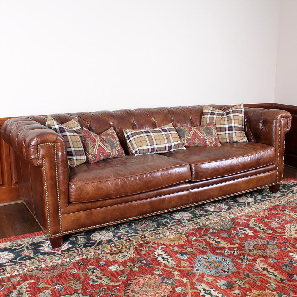 Hooker Furniture Stationary Leather Sofa In Malawi Tonga