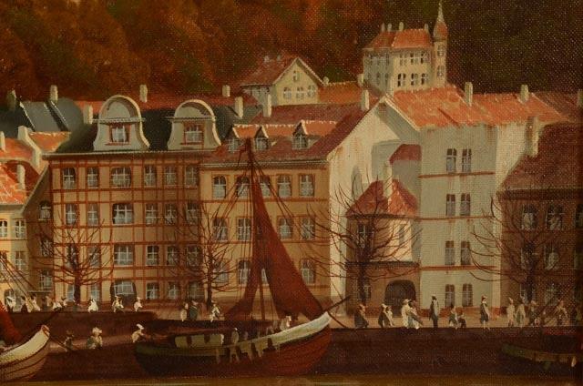 peter samberger oil landscape painting of heidelberg. Black Bedroom Furniture Sets. Home Design Ideas