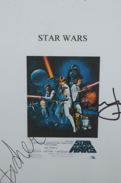 Harrison Auto Sales >> Autographed Star Wars Script Cover With COA : EBTH