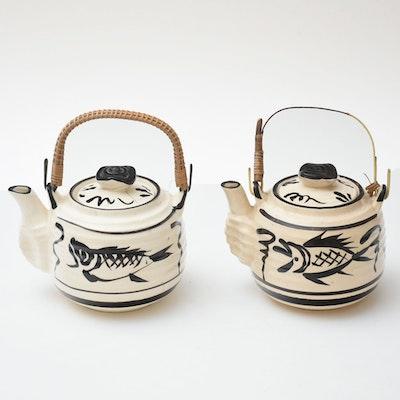 Pair of Matching Japanese Teapots